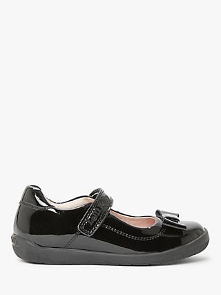 Lelli Kelly Children's Elsa Leather School Shoes, Black Patent