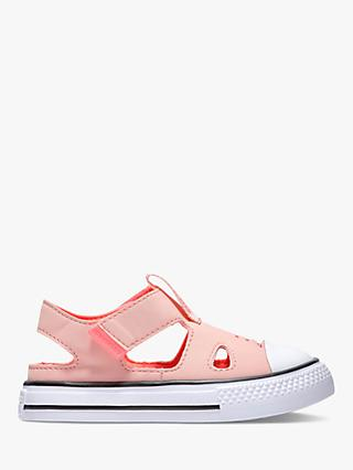 Converse Junior Chuck Taylor All Star Superplay Sandals, Bleached Coral/Racer Pink