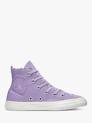 c16ceae21ee7 Converse Children s Chuck Taylor All Star Frilly Thrills Hi-Top Trainers