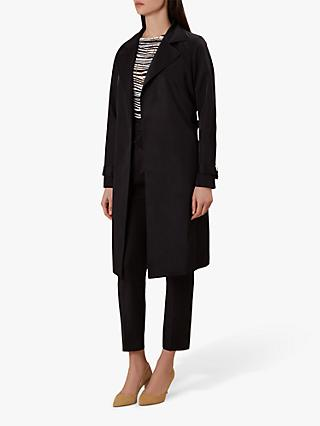 Hobbs Tiana Trench Coat, Black