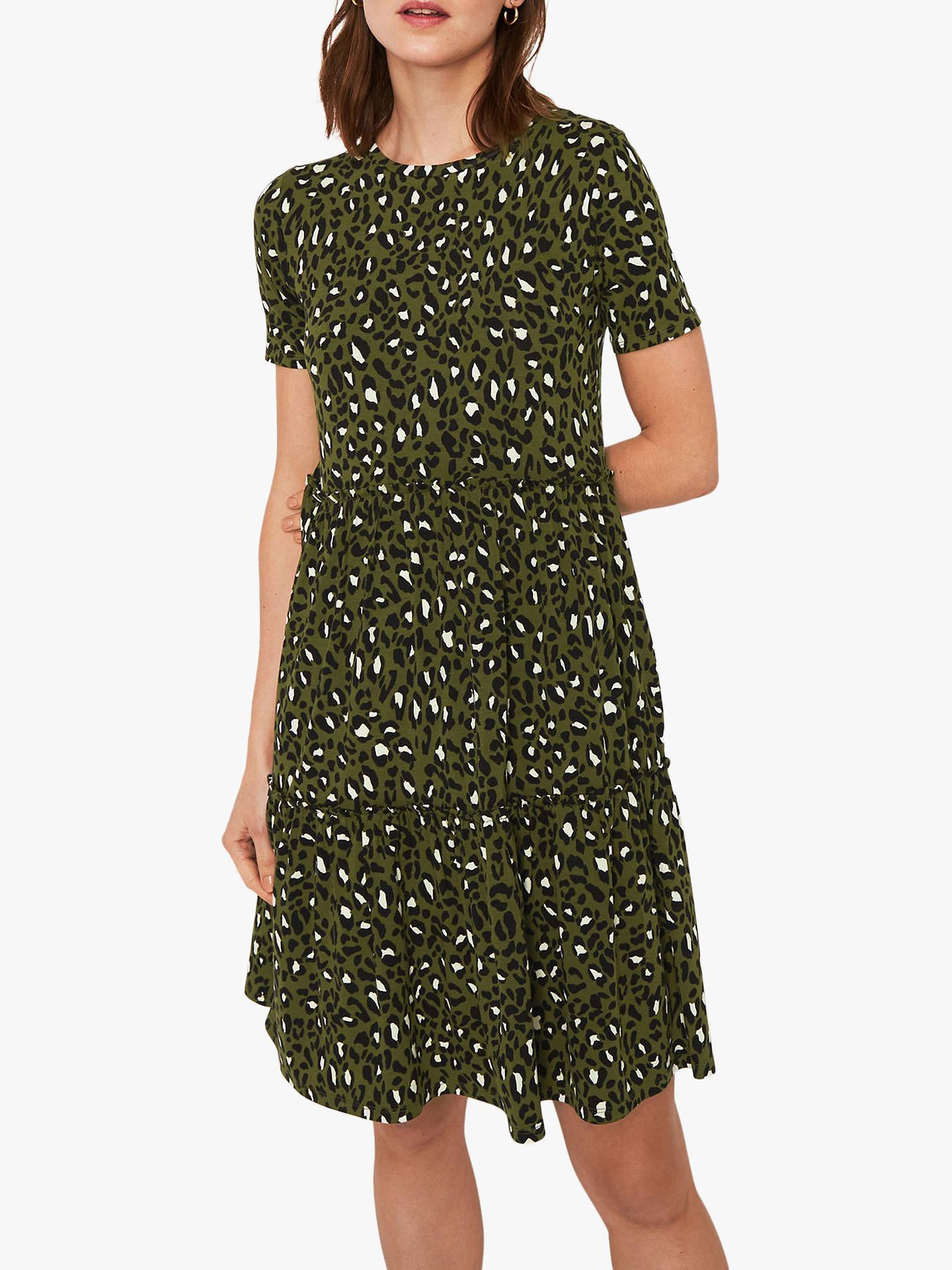 8e15ce33c82b Buy Warehouse Leopard Print T-Shirt Dress, Green Print, 8 Online at  johnlewis ...