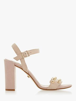 Dune Myth 2 Studded High Block Heel Sandals