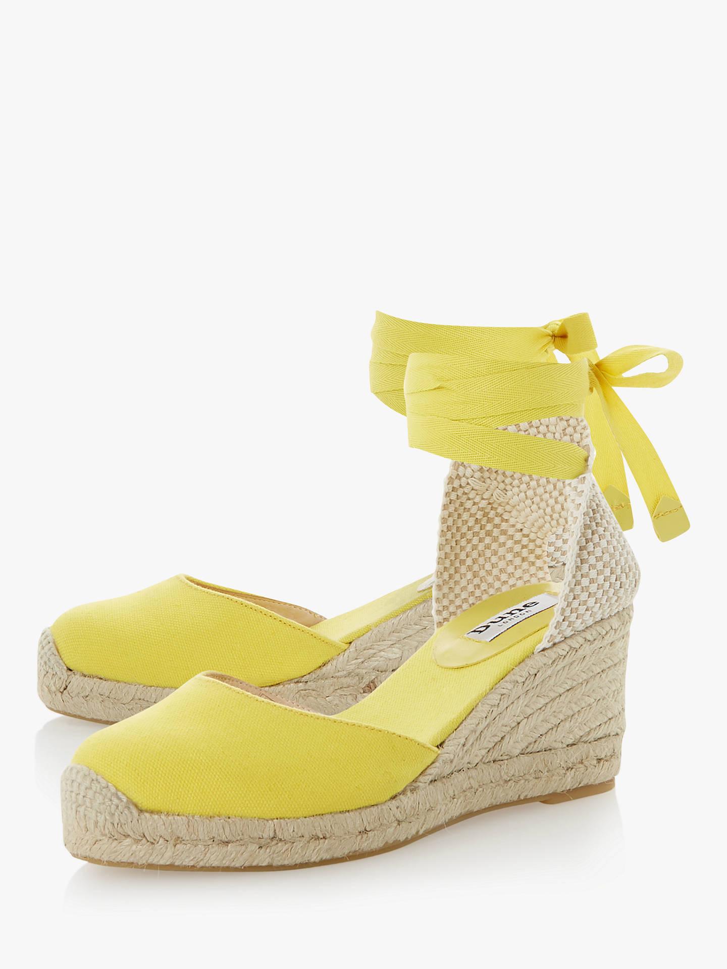 e8b84c4e33e21 ... Buy Dune Kasey Wedge Heel Espadrilles, Yellow, 4 Online at  johnlewis.com ...