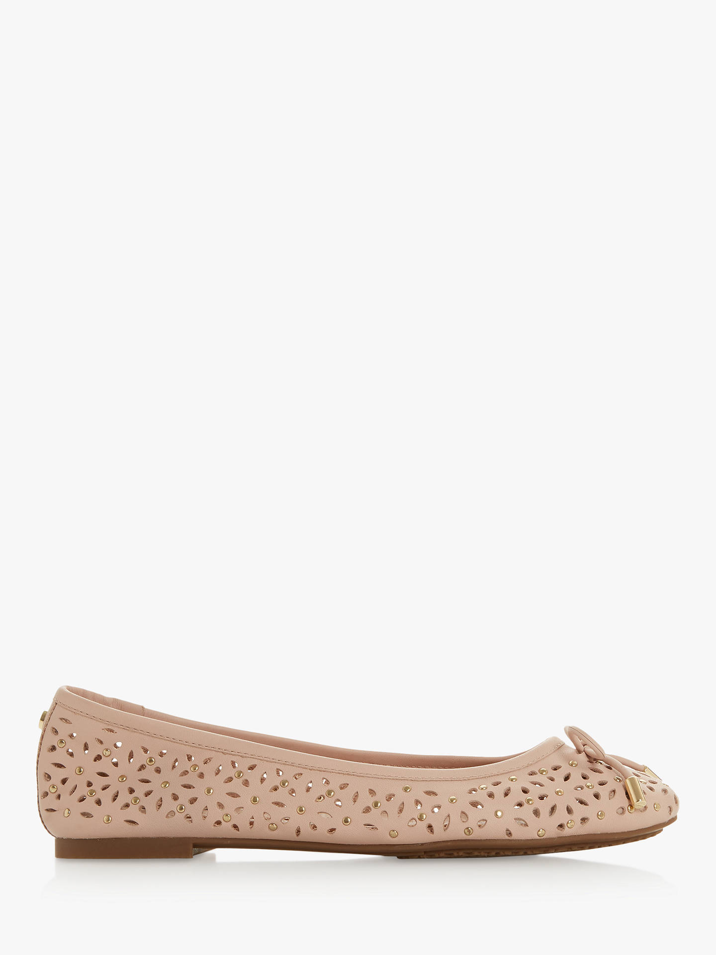 best sneakers 56959 91664 Dune Heleina Cut Out Flat Pumps at John Lewis & Partners