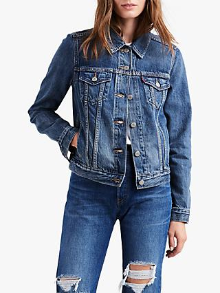 Levi's Original Trucker Denim Jacket, Soft As Butter Dark