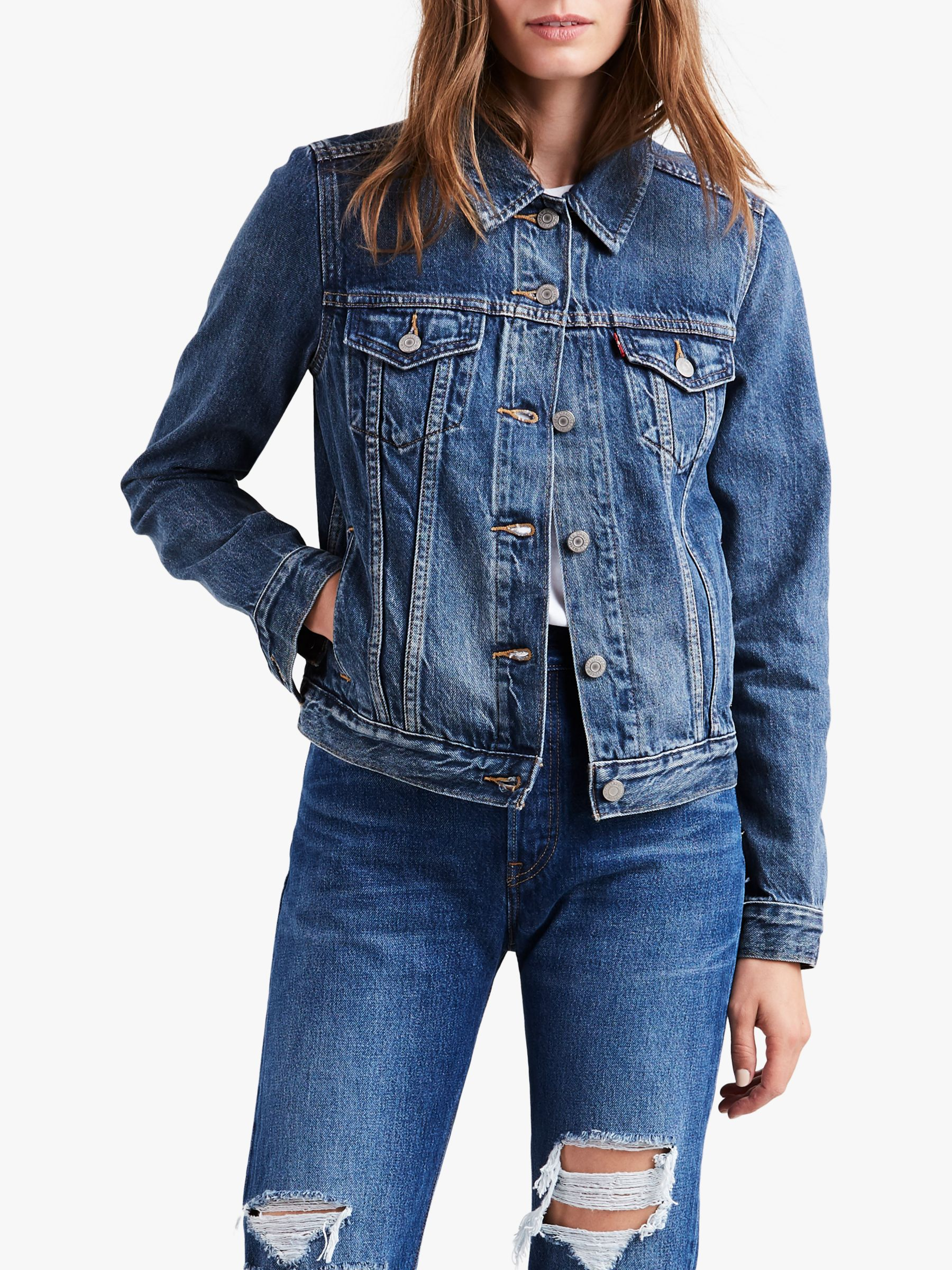 Levi's Levi's Original Trucker Denim Jacket, Soft As Butter Dark