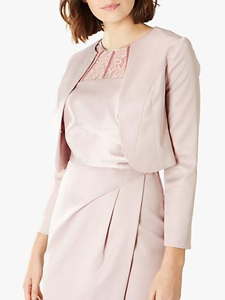 Coast Lucy Satin Jacket, Oyster