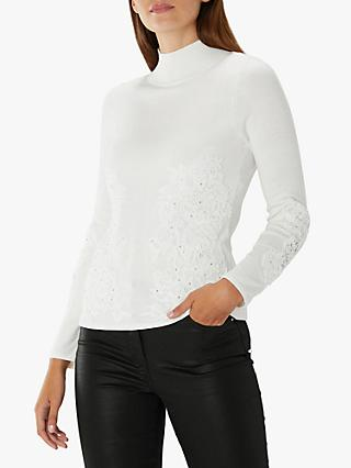 ae8209224 Coast Karla Lace Embellished Knitted Top