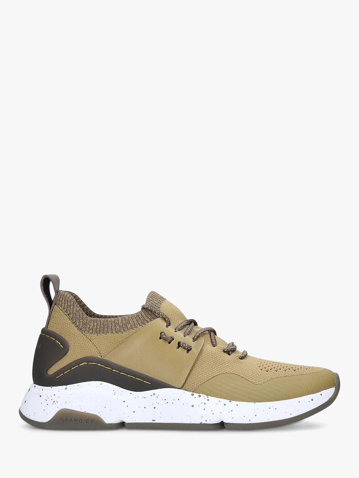 Buy Cole Haan Zero Stitch Lace Up Trainers, Green Mid, 2 Online at johnlewis.com