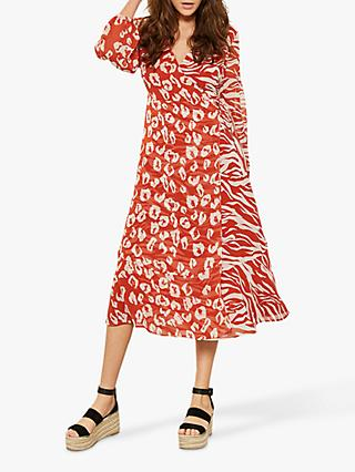 Mint Velvet Rimona Wrap Dress, Multi