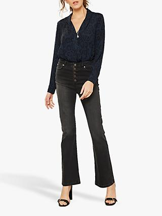 Mint Velvet Bellflower Jeans, Black