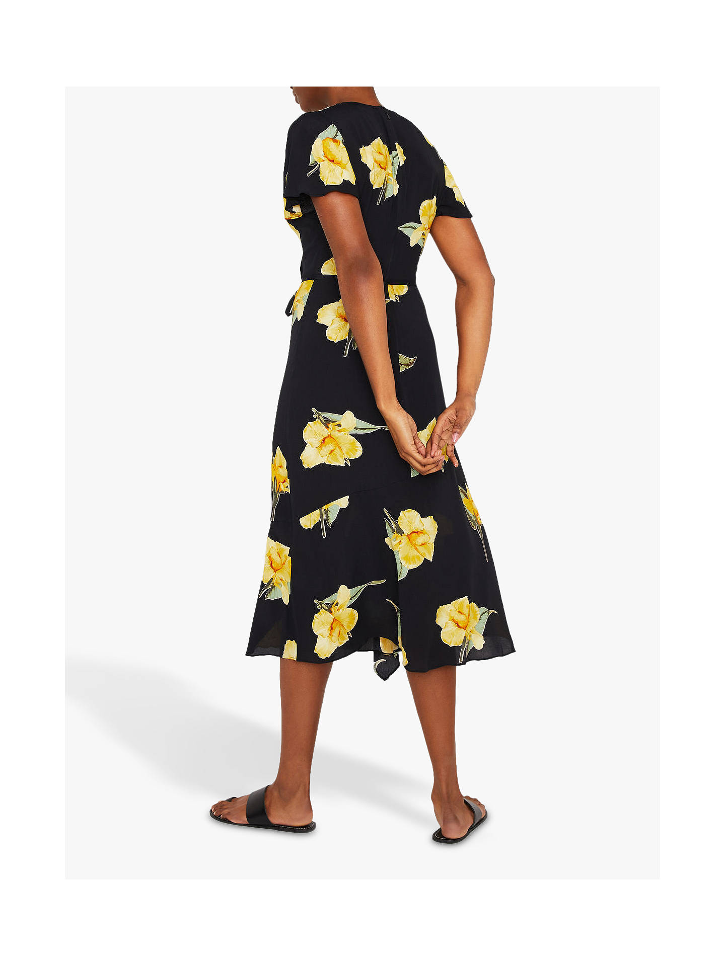 94f26b82241e ... Buy Warehouse Katy Floral Wrap Midi Dress