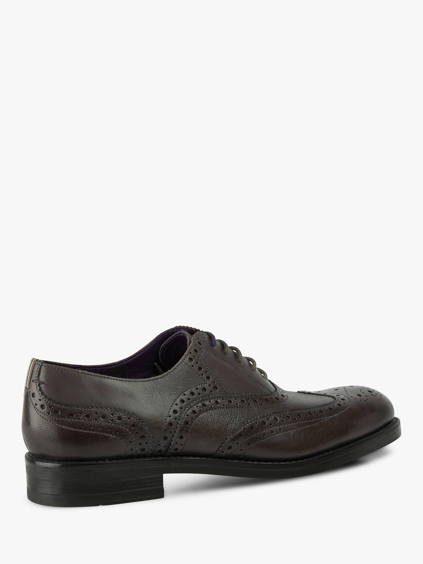 Buy Ted Baker Almhano Brogues, Mid Grey, 6 Online at johnlewis.com