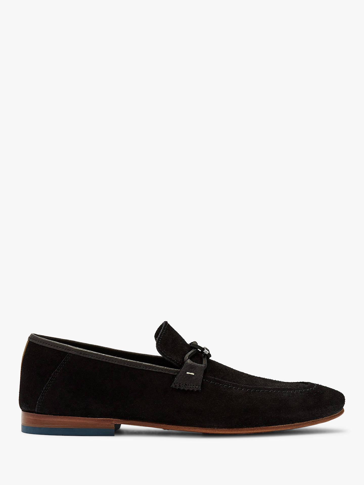 c0ffd5f4e4b51 Ted Baker Siblac Suede Loafers, Black at John Lewis & Partners