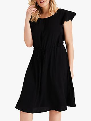 Studio 8 Janine Hanky Hem Dress, Black