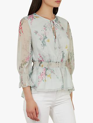 6a0fd44d1bc44 Reiss Lula Tie Neck Sleeveless Blouse. £95.00 · Ted Baker Klarra Floral  Print Ruffle Top