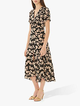 Gerard Darel Gabriella Floral Print Dress, Black/Multi