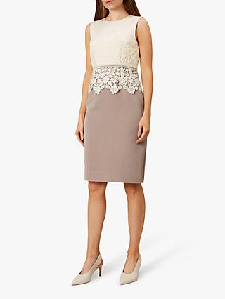 Hobbs Seraphina Dress, Cream Latte