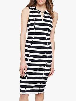 Damsel in a Dress Sade Stripe Dress, Black/Ivory