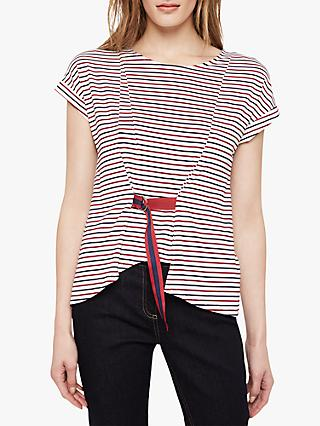 Damsel in a Dress Fitzroy Stripe Top, Navy/Red/White