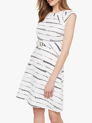 Damsel in a Dress Jemi Belted Dress, Black/White