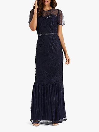Phase Eight Cayleigh Lace Dress, Navy