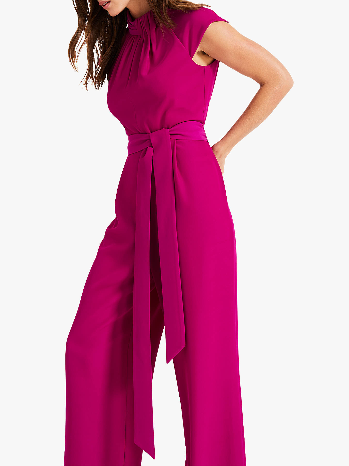 reliable quality los angeles best sneakers Phase Eight Bree Twist Jumpsuit, Bright Plum at John Lewis ...