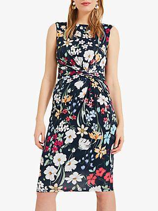 Phase Eight Mirabella Slinky Floral Dress, Multi