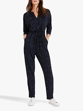 Phase Eight Janice Jumpsuit, Navy/Multi