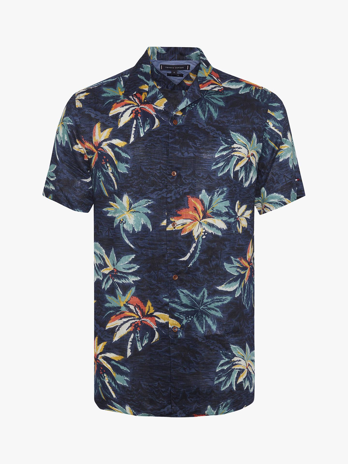 aef7bc1c84c6 Buy Tommy Hilfiger Hawaiian Print Shirt, AOP, XL Online at johnlewis.com ...