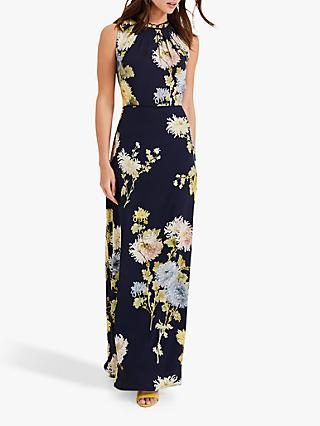 Phase Eight Roselle Printed Maxi Dress, Navy/Multi