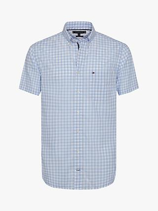 Tommy Hilfiger Short Sleeve Classic Gingham Shirt, Blue