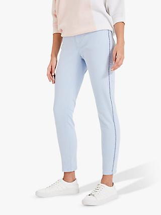 Phase Eight Pixie Picot Cropped Jeans, Ice Blue