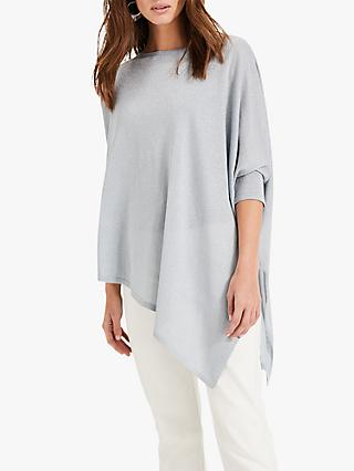 Phase Eight Melinda Asymmetric Hem Knit Jumper, Pale Blue