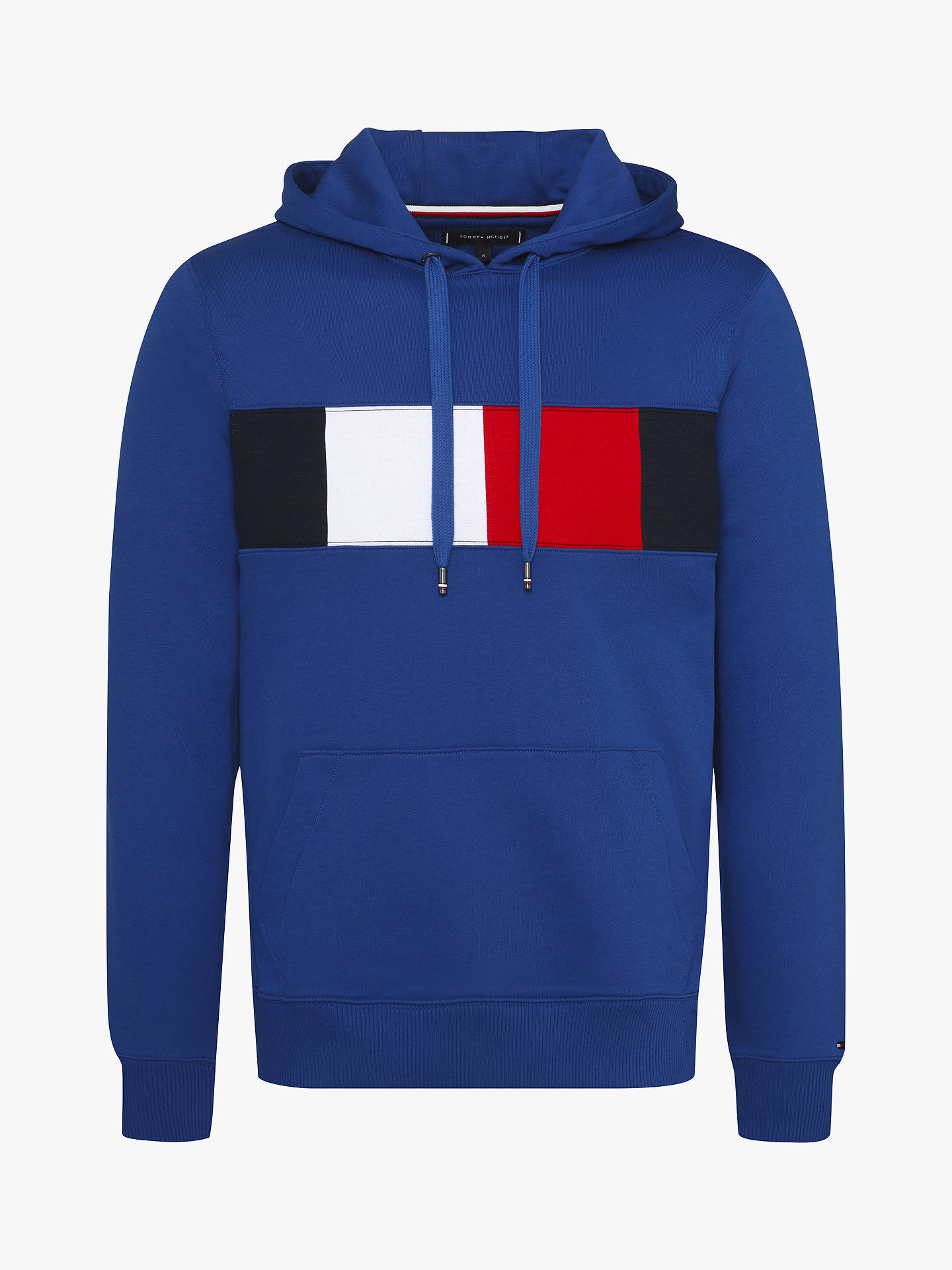 5524879ac22fe Tommy Hilfiger Flag Chest Insert Hoodie, Blue
