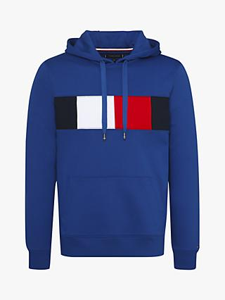 Tommy Hilfiger Flag Chest Insert Hoodie, Blue