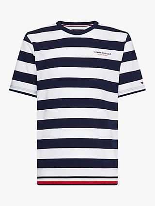 Tommy Hilfiger Striped T-Shirt, White/Blue