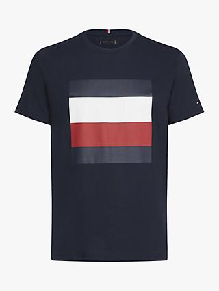 Tommy Hilfiger Embossed Box Graphic T-Shirt, Navy