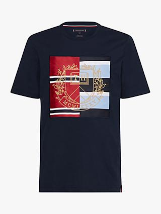 caaba0687b6110 Tommy Hilfiger Mixed Crest T-Shirt, Navy