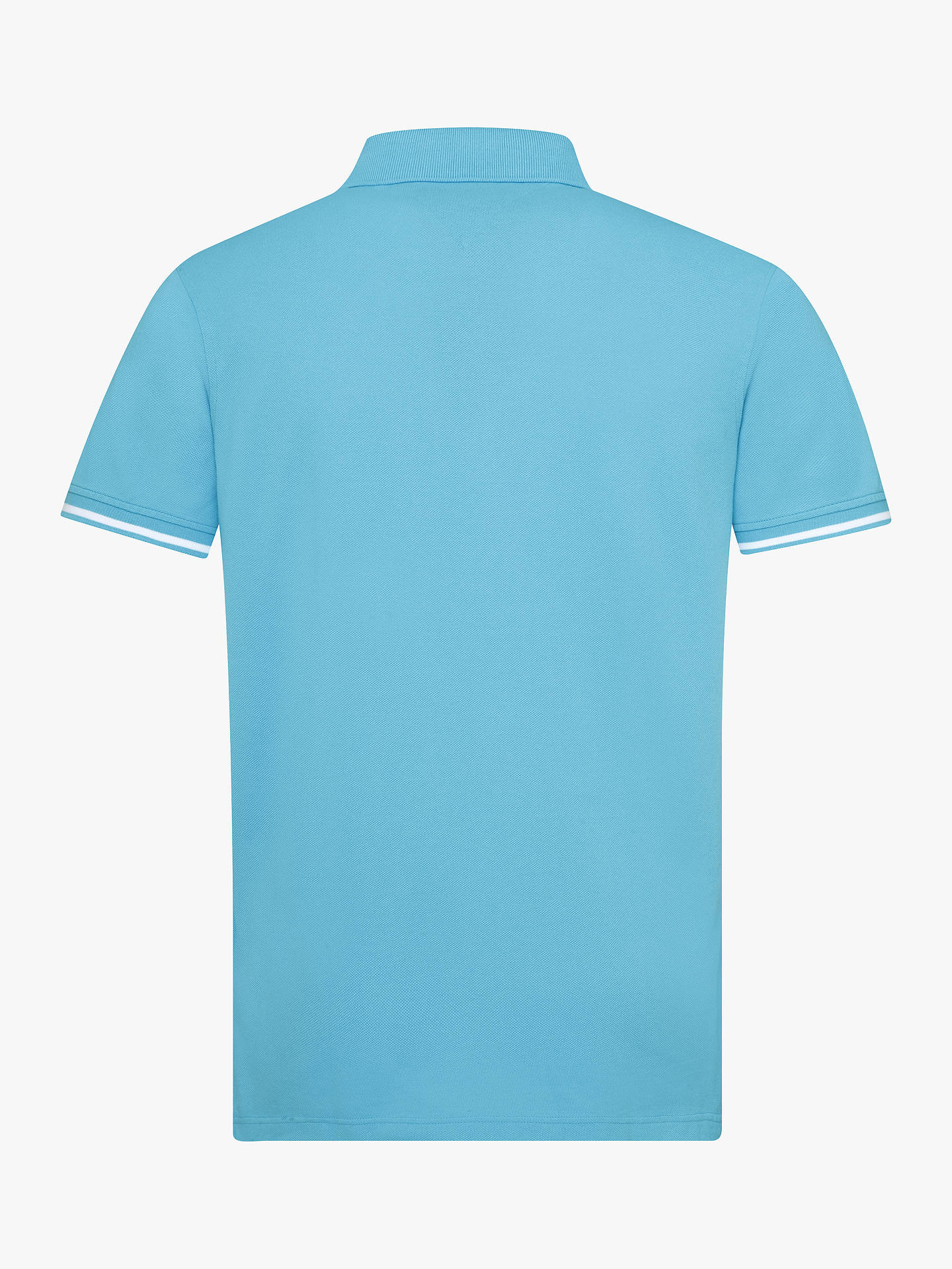 b7cb9f4f308 Buy Tommy Hilfiger Tipped Regular Fit Polo Shirt, Turquoise, S Online at  johnlewis.