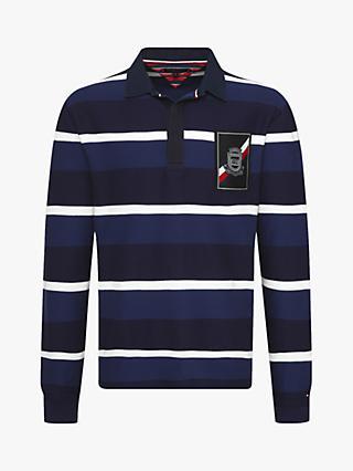 c8b4d132fb1caf Tommy Hilfiger Herringbone Stripe Rugby Shirt, Navy