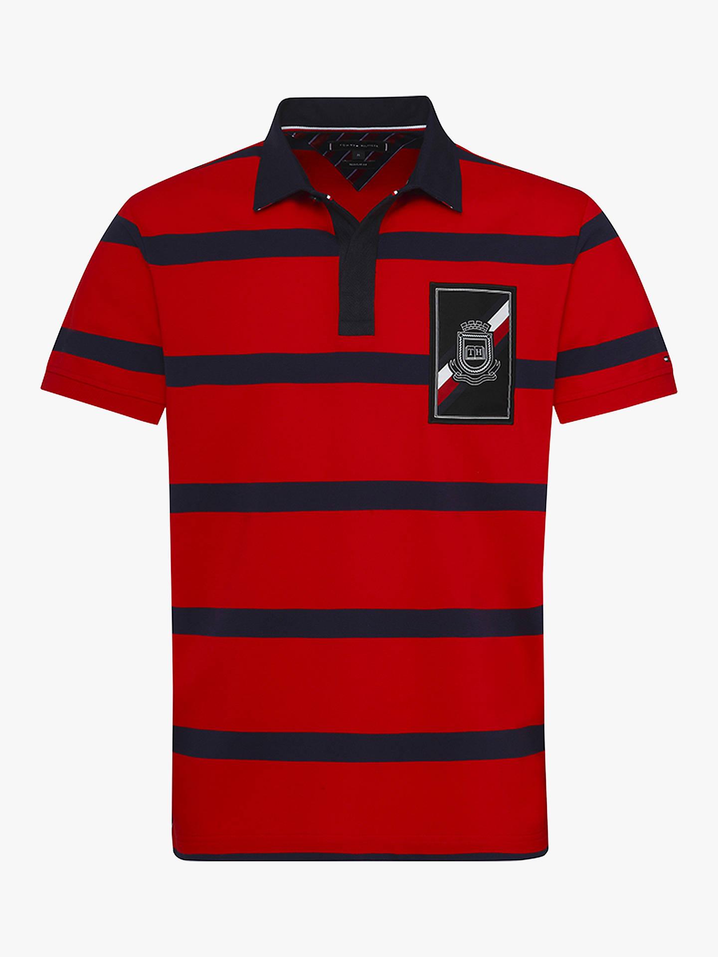 0dbdde7b9 Buy Tommy Hilfiger Stripe Polo Shirt, Red, L Online at johnlewis.com ...