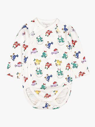 49075d13738 Polarn O. Pyret Baby Organic Cotton Bird Bodysuit