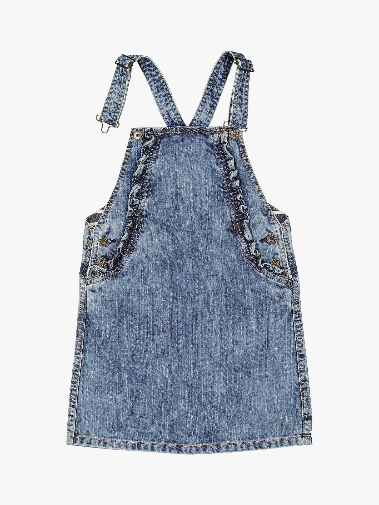 0c34c82736f3 Polarn O. Pyret Girls' Denim Pinafore Dress, Blue at John Lewis ...
