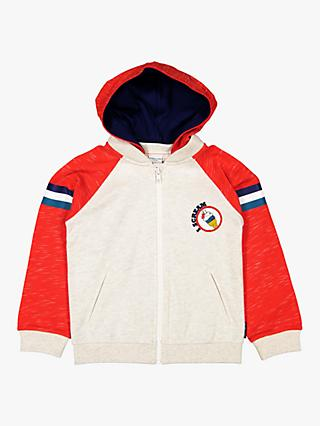 Polarn O. Pyret Children's Two Tone Hoodie, Red