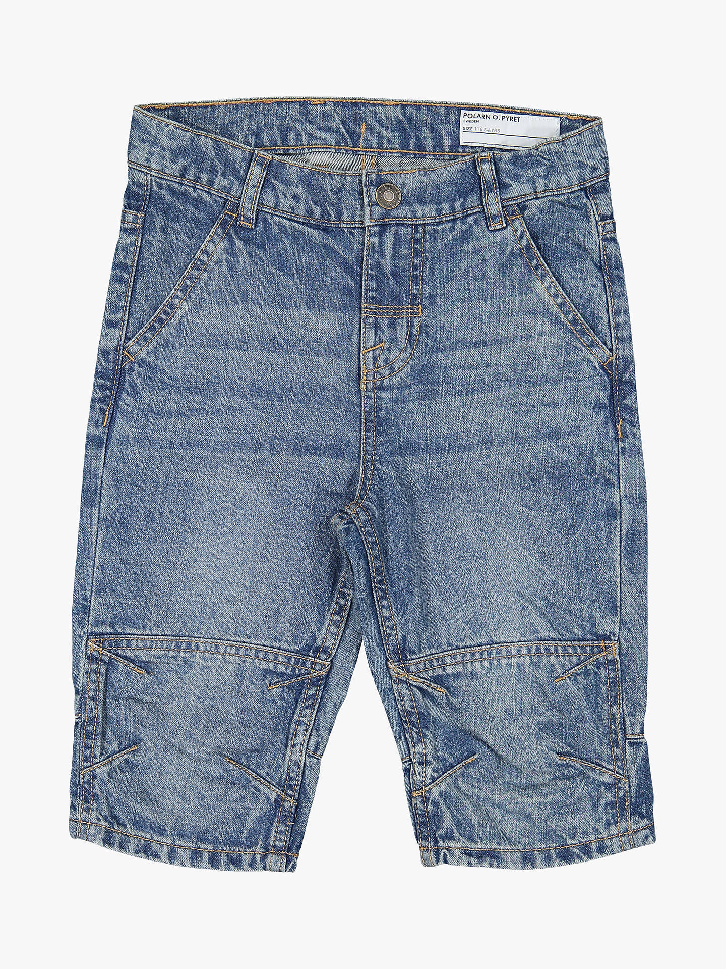 a69b449f6e8c Buy Polarn O. Pyret Children's Denim Shorts, Blue, 11-12 years Online ...