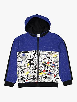 Polarn O. Pyret Children's Graffiti Hoodie, Blue