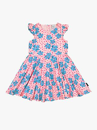 Polarn O. Pyret Children's Floral Dress, Pink