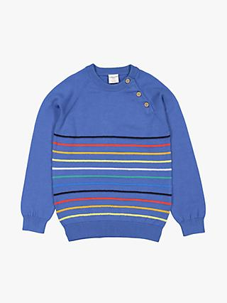 Polarn O. Pyret  Children's Striped Jumper, Blue