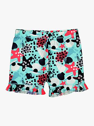 Polarn O. Pyret Children's UV Sea Life Swim Shorts, Hot Pink